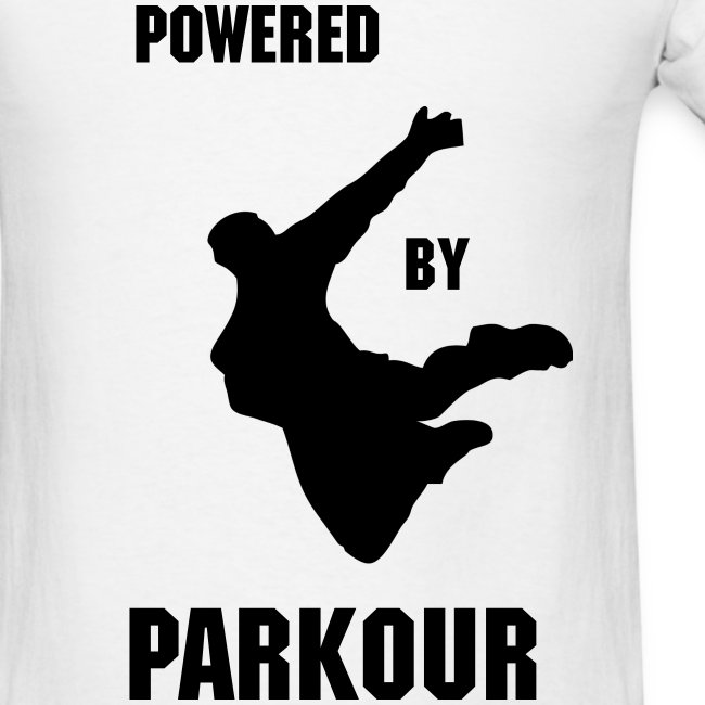 POWERED BY PAKOUR MEN'S T-SHIRT