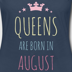 Queens Are Born In August Long Sleeve Shirts - Women's Premium Long Sleeve T-Shirt