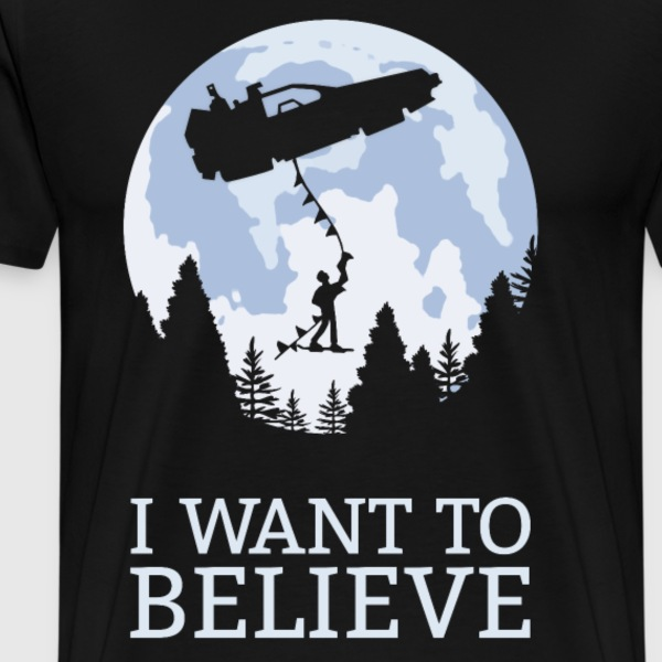 back to the future i want to believe T-Shirts - Men's Premium T-Shirt