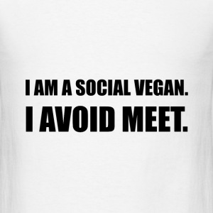 Social Vegan Avoid Meet - Men's T-Shirt