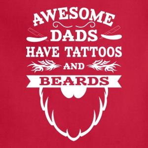 Awesome Dads Tattoos & Beards Aprons - Adjustable Apron