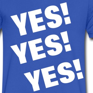 YES!YES!YES! T-Shirts - Men's V-Neck T-Shirt by Canvas