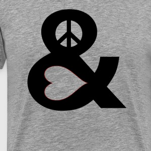 Peace And Love T-Shirts - Men's Premium T-Shirt