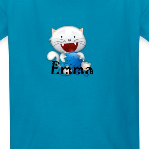 Emma cute little white kitten girls shirt Kids' Sh - Kids' T-Shirt