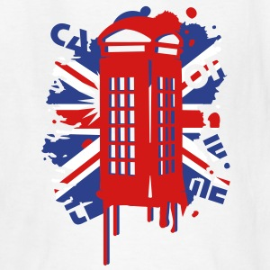 red telephone box with a British flag Kids' Shirts - Kids' T-Shirt
