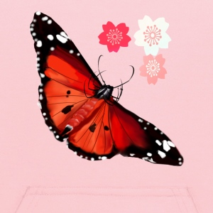 HOT BIG BRIGHT BUTTERFLY and Cherry Blossoms - Kids' Hoodie