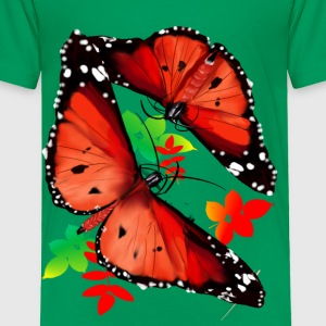 TWO BIG BRIGHT ORANGE BUTTERFLIES - Toddler Premium T-Shirt
