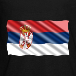 Serbia Flag Kids' Shirts - Kids' Premium Long Sleeve T-Shirt