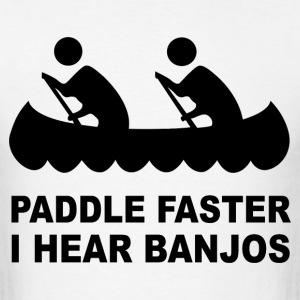 Paddle faster i kear banjo - Men's T-Shirt