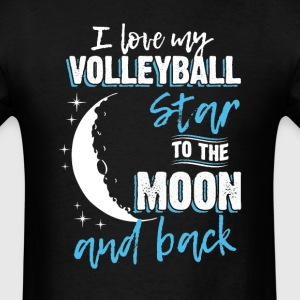 Volleyball Mom To the Moon an Back T-Shirts - Men's T-Shirt
