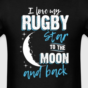 Rugby Mom To the Moon an Back T-Shirts - Men's T-Shirt