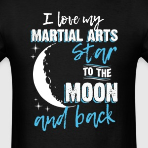 Martial Arts Mom To the Moon an Back T-Shirts - Men's T-Shirt