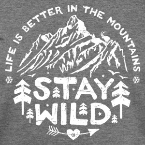 Stay Wild off-shoulder Sweater - Women's Wideneck Sweatshirt