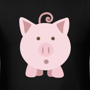 Cute surprised pig pig - Men's T-Shirt