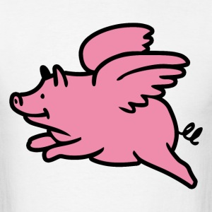 Flying pig - Men's T-Shirt