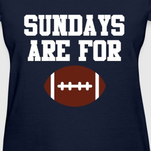 Football Pig Skin Sundays Front Graphic Sports T-Shirts - Women's T-Shirt