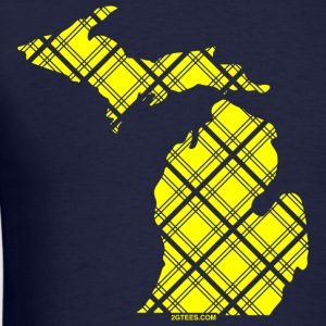 Michigan-Plaid-Maize-&-Bl T-Shirts - Men's T-Shirt