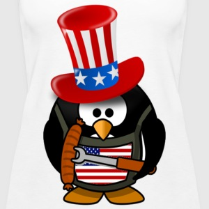 4th Of July The Patriotic Penguin - Women's Premium Tank Top