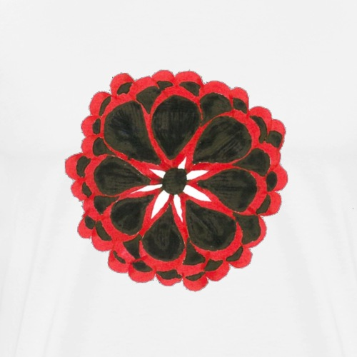 red and black flower