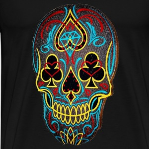 Skull  Pin art T-Shirts - Men's Premium T-Shirt