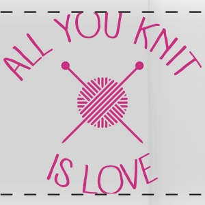 All You Knit Is Love Mugs & Drinkware - Panoramic Mug