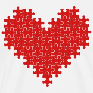Puzzle heart - Men's Premium T-Shirt