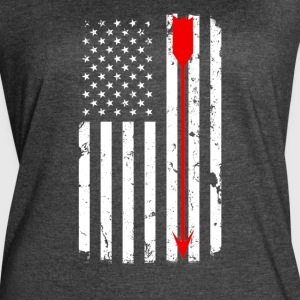 USA Flag with Red Arrow T-Shirts - Women's Vintage Sport T-Shirt