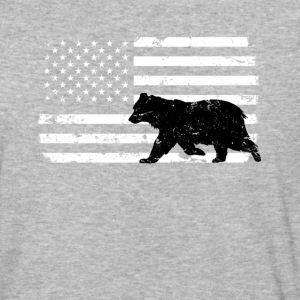 USA Flag with Black Bear T-Shirts - Baseball T-Shirt