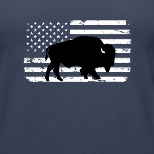 USA Flag and Wild Buffalo Tanks - Women's Premium Tank Top