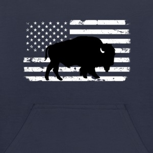 USA Flag and Wild Buffalo Sweatshirts - Kids' Hoodie