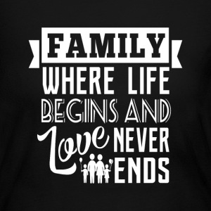 Family where life begins Long Sleeve Shirts - Women's Long Sleeve Jersey T-Shirt