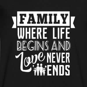 Family where life begins T-Shirts - Men's V-Neck T-Shirt by Canvas