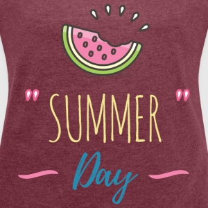 Summer Day - Holiday! T-Shirts - Women's Roll Cuff T-Shirt