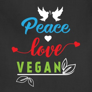 Peace Love Vegan Aprons - Adjustable Apron