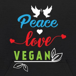 Peace Love Vegan Sweatshirts - Kids' Hoodie