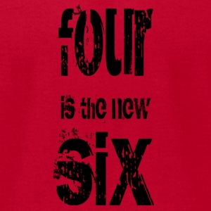 four is the new six - blk T-Shirts - Men's T-Shirt by American Apparel