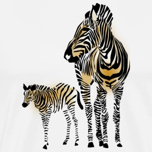 Zebra Family - Men's Premium T-Shirt