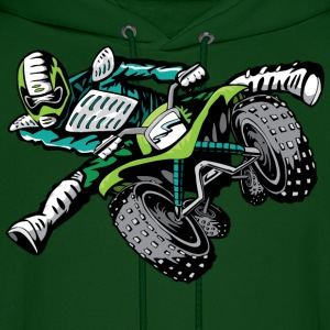 freestyle ATV quad rider green - Men's Hoodie
