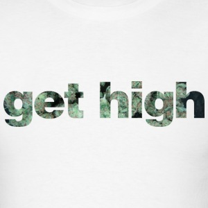 GET HIGH (White) - Men's T-Shirt