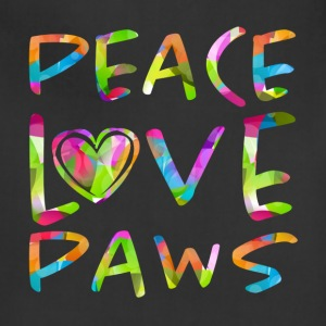 Peace Love Paws Psychedelic Dog Lover Graphic - Adjustable Apron