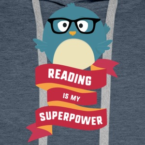 Reading is my Superpower S2g6d Men's Long Sleeve - Men's Premium Hoodie