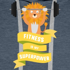 Fitness is my Superpower Shdub Men's Long Sleeve - Men's Premium Hoodie