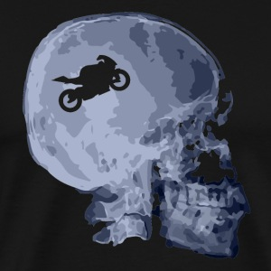 X Motorcycle Skull Shirt - Men's Premium T-Shirt