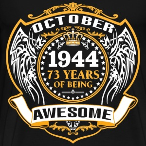 1944 73 Years Of Being Awesome September T-Shirts - Men's Premium T-Shirt