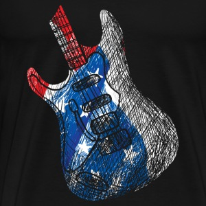 Guitarist America Flag Geek Music - Men's Premium T-Shirt