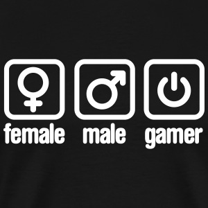 Female - Male - Gamer T-Shirts - Men's Premium T-Shirt