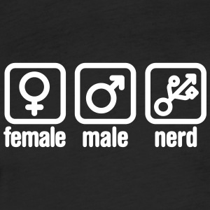 Female - Male - Nerd T-Shirts - Fitted Cotton/Poly T-Shirt by Next Level