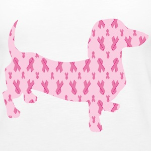 Cancer Ribbon Support Dachshund - Women's Premium Tank Top