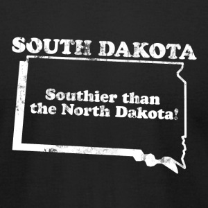 SOUTH DAKOTA STATE SLOGAN T-Shirts - Men's T-Shirt by American Apparel