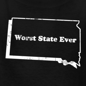 SOUTH DAKOTA - WORST STATE EVER Kids' Shirts - Kids' T-Shirt